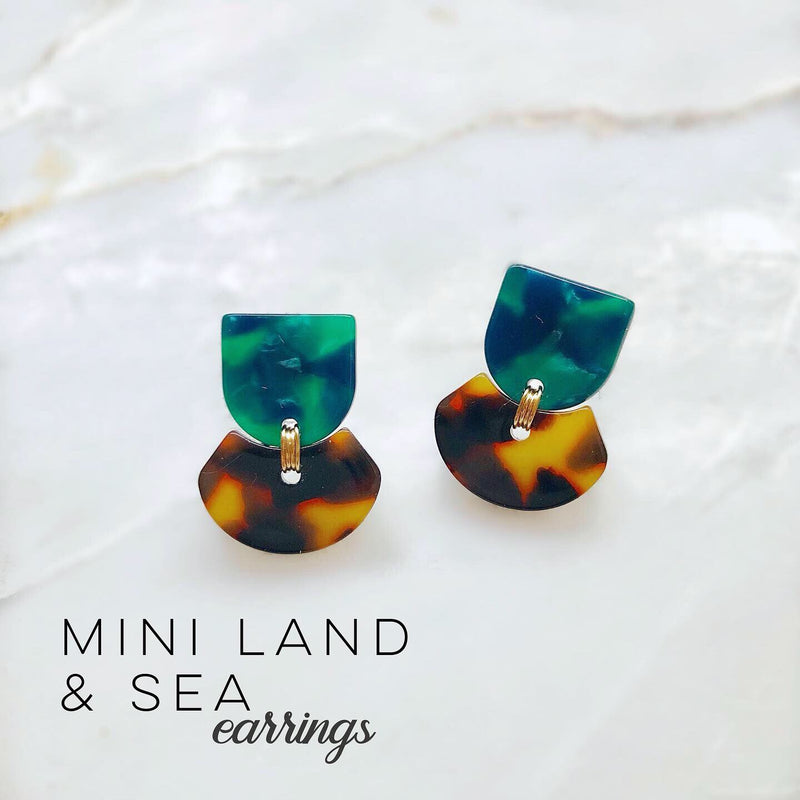 Mini Land & Sea Earrings