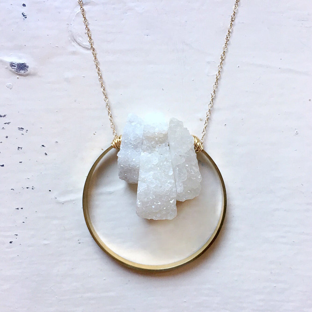 Druzy Full Circle Necklace [short]