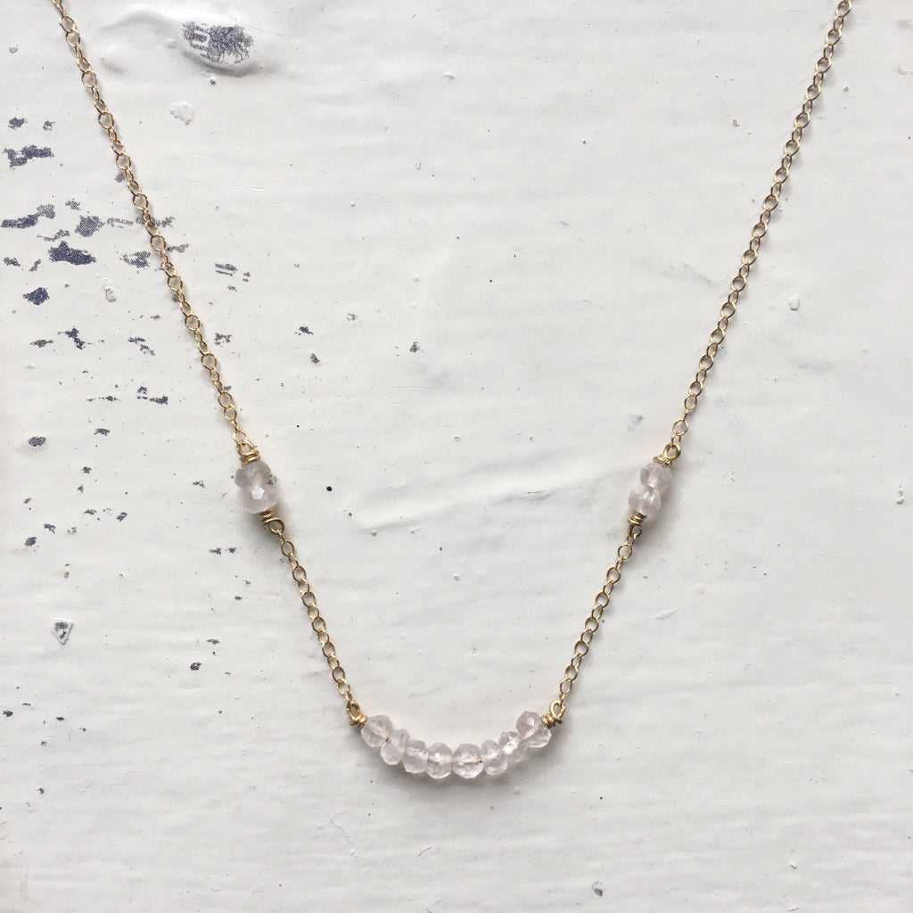 Kindred Necklace {Rose Quartz}
