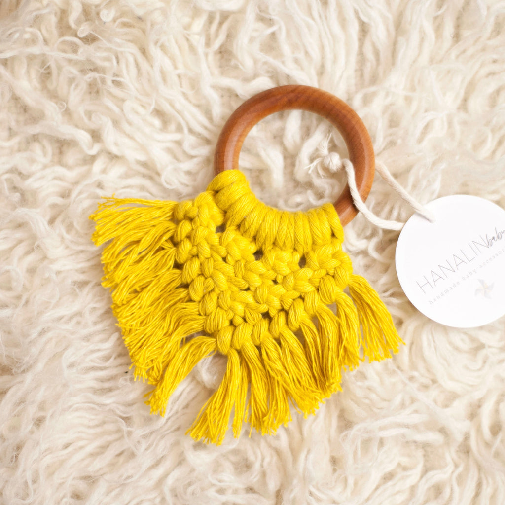 Dandelion Handwoven Macrame Teether