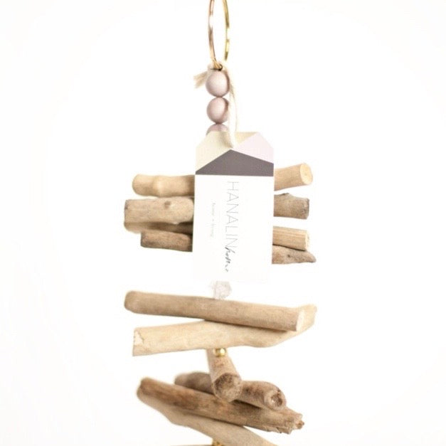 Driftwood + Herkimer Diamond Mobile
