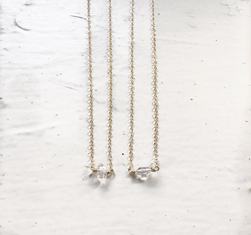 Hint of Herkimer Necklace