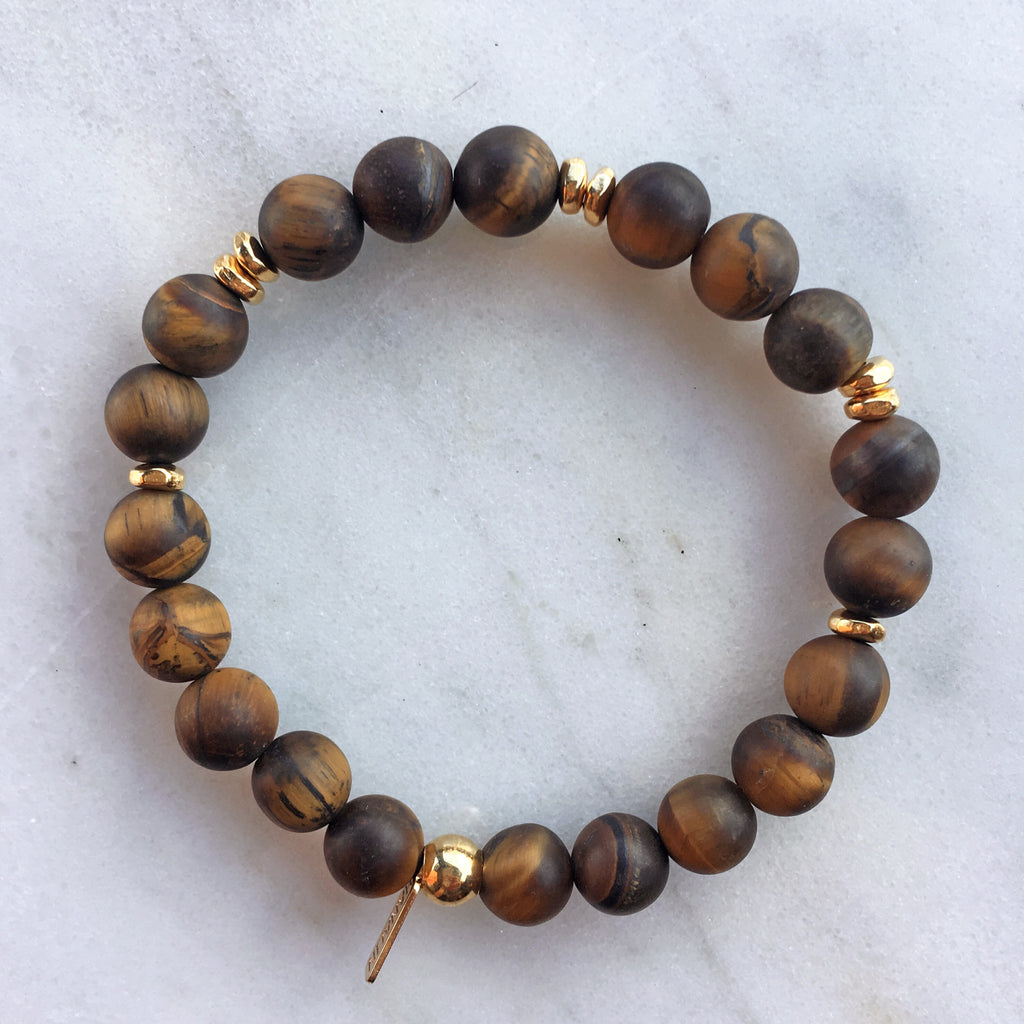 Tiger Eye Mala Bracelet | scatter |