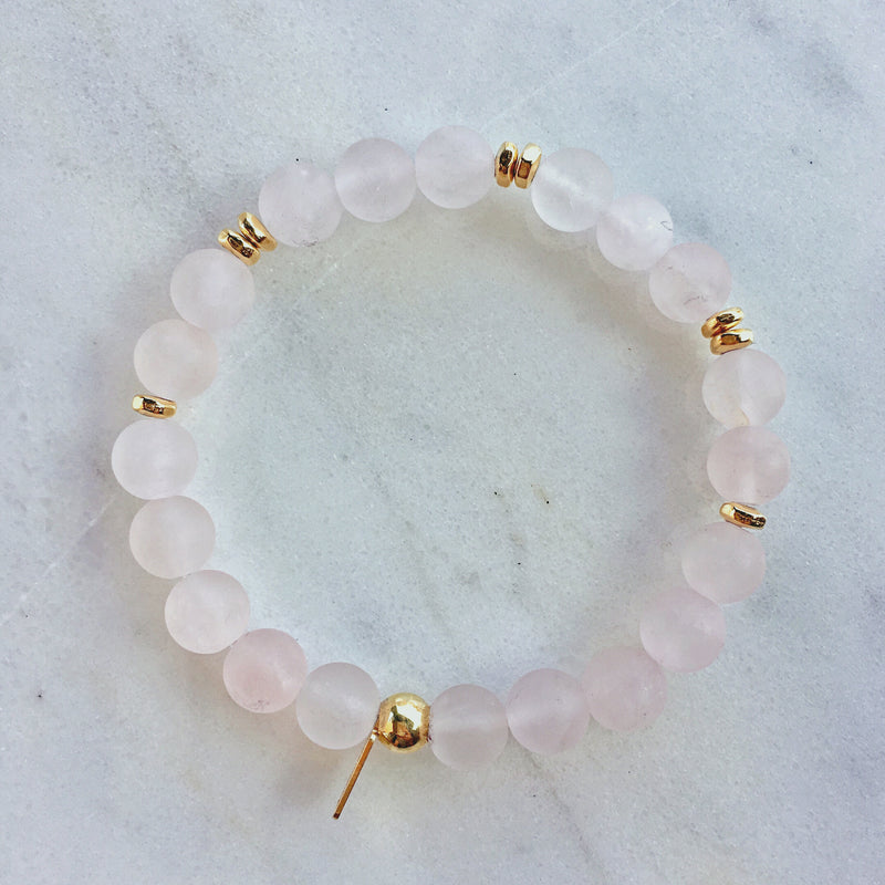 Rose Quartz Mala Bracelet | scatter |