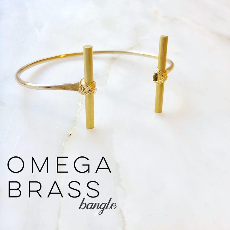 Omega Brass Bangle