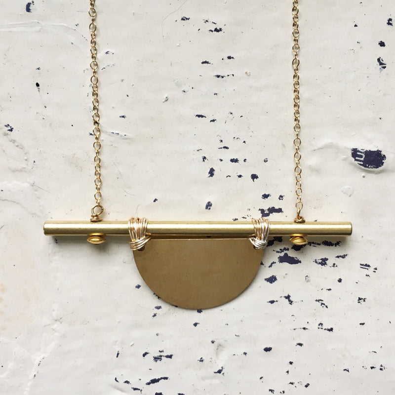 Half-Moon Crossbar Necklace