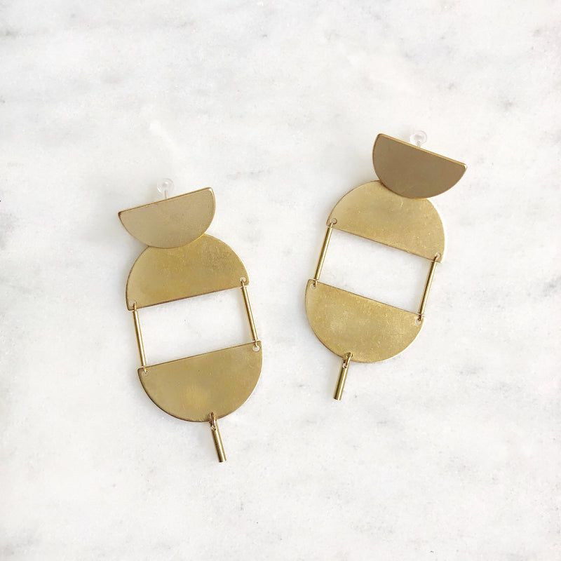 The Looking-Brass Earrings