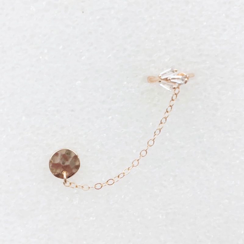Dainty Cluster Cuff + Chain Earring