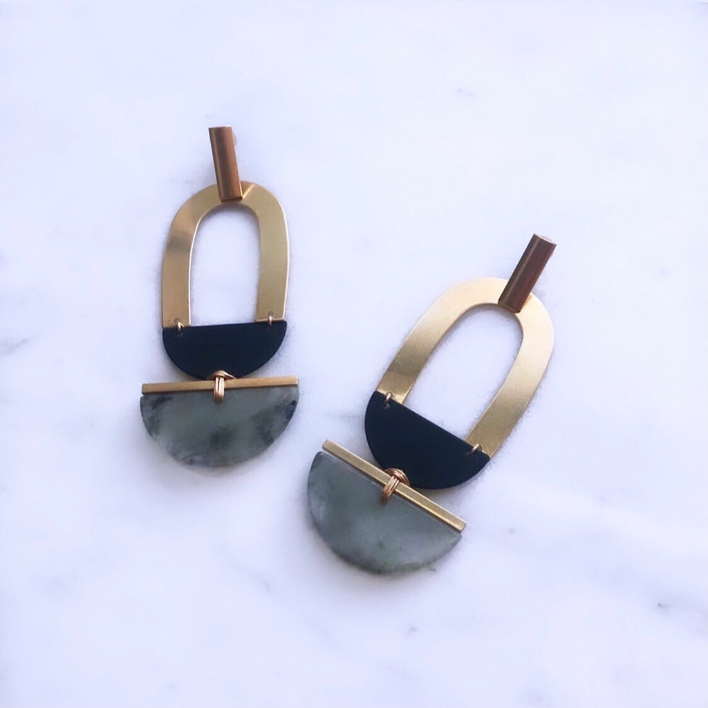 The Gold Lining In Labradorite Earrings