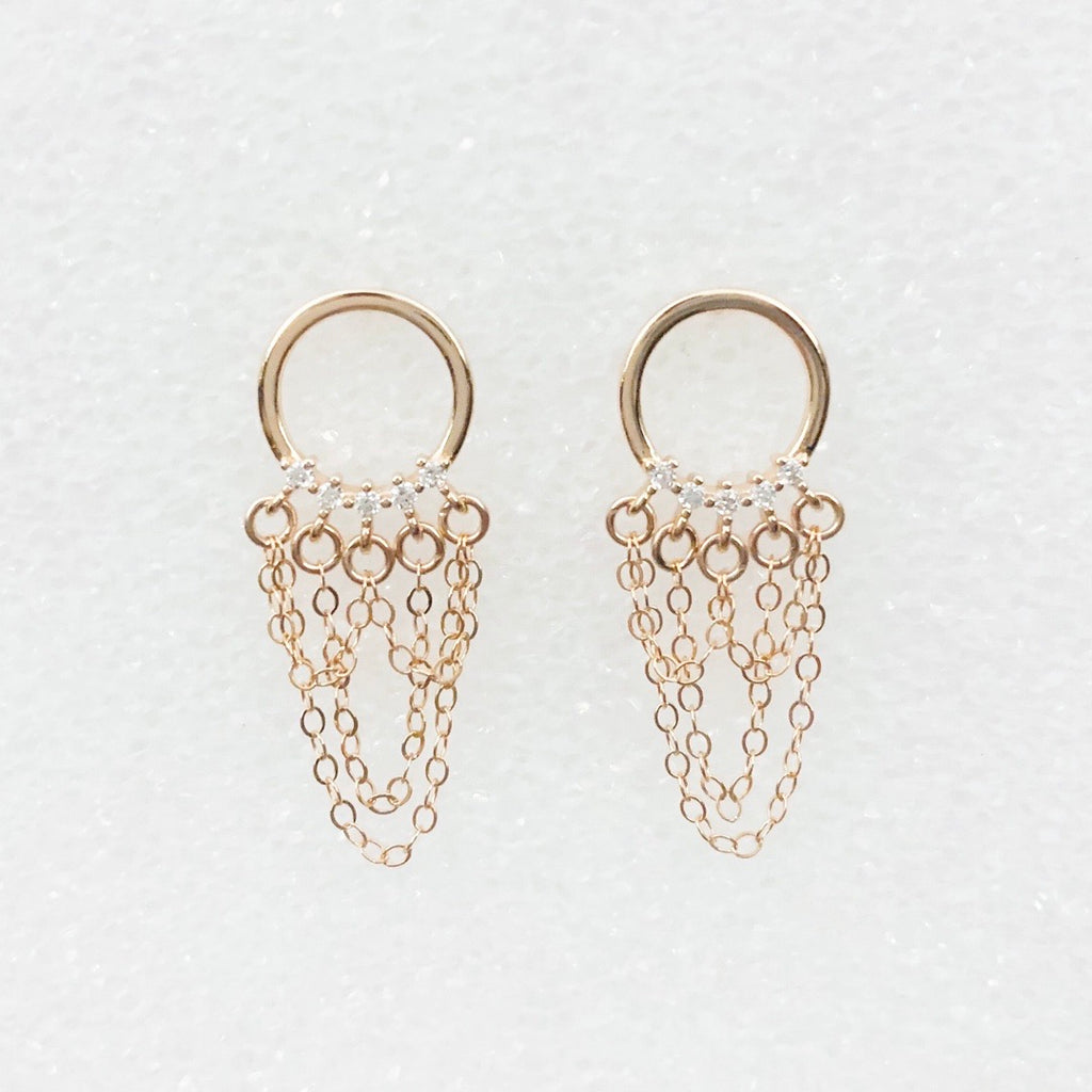 Mini Flash Rain Earrings