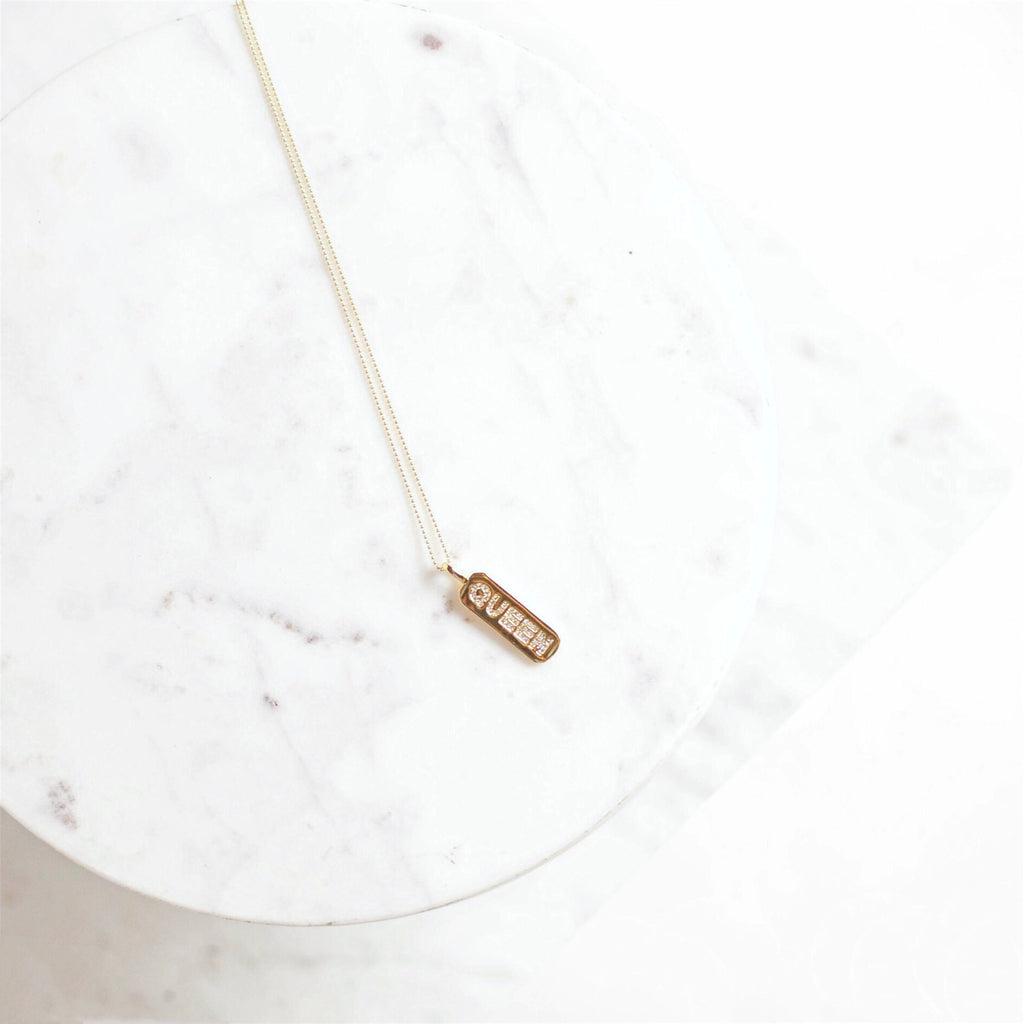 """Queen"" Bar Necklace"