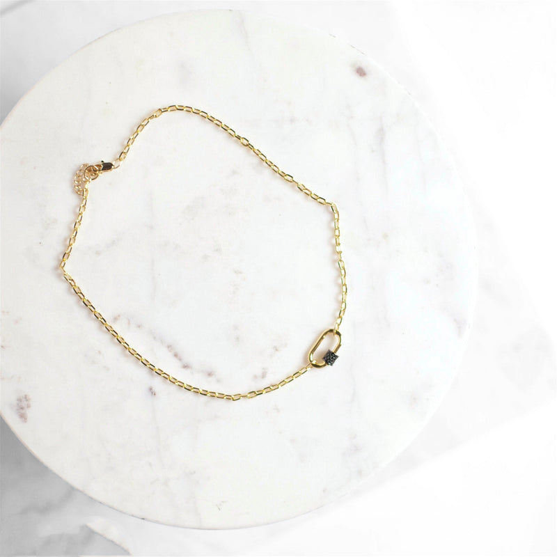 Gold + Gunmetal Collar Necklace
