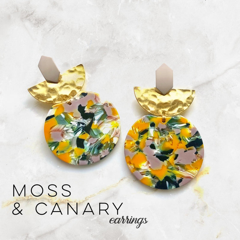 Moss & Canary Earrings