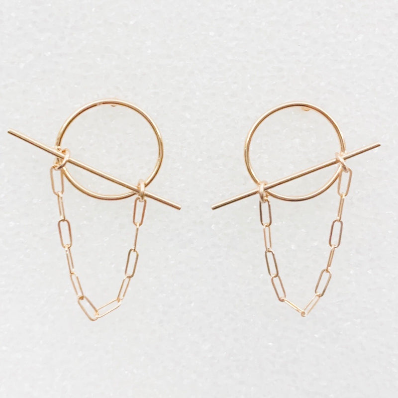 Off-kilter Chain Earrings