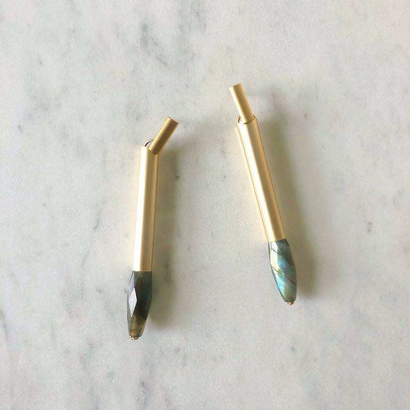 Bulletproof In Labradorite Earrings