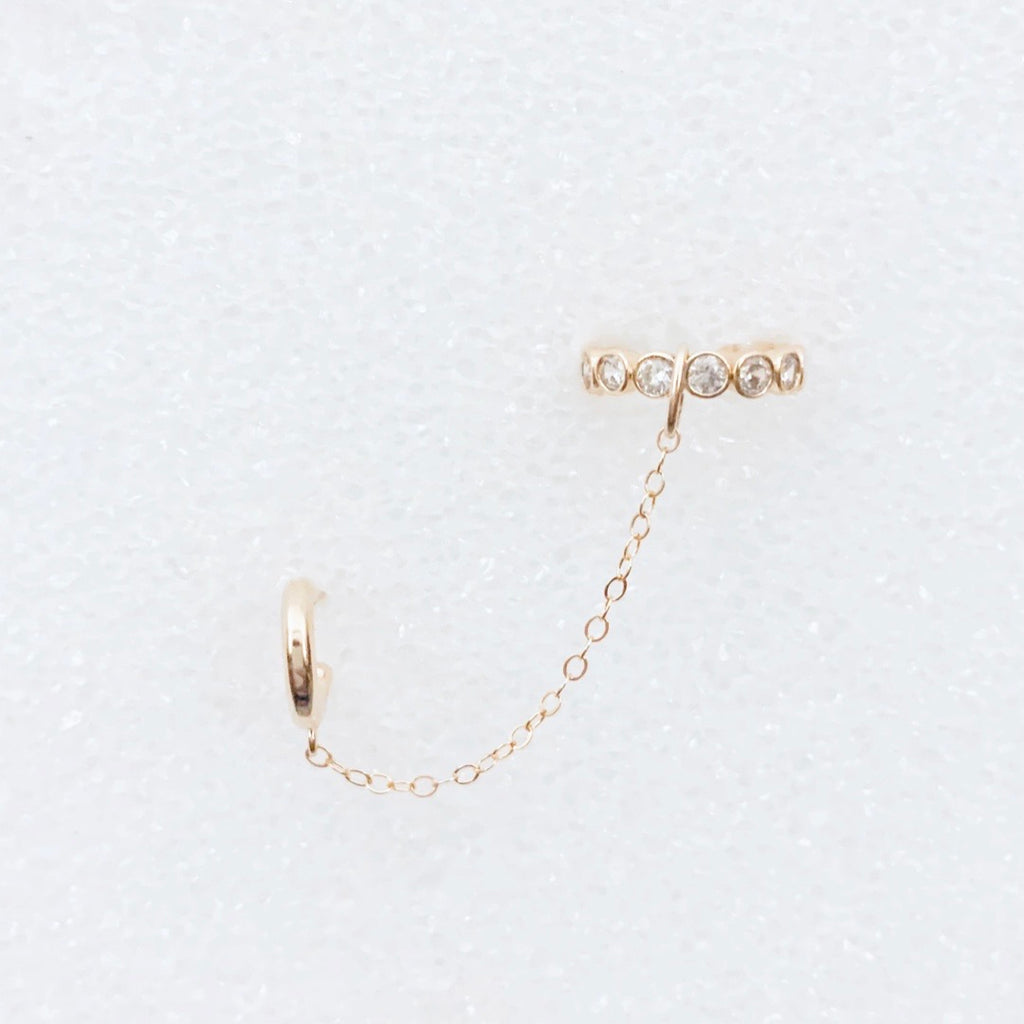 Eternity Cuff + Chain Earring