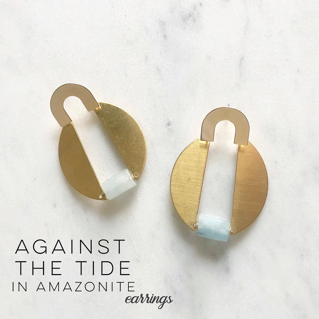 Against The Tide In Amazonite Earrings