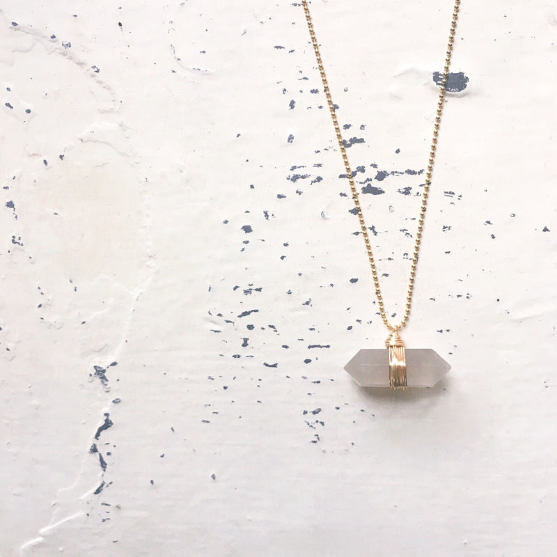 Sideways Smoky Quartz Necklace
