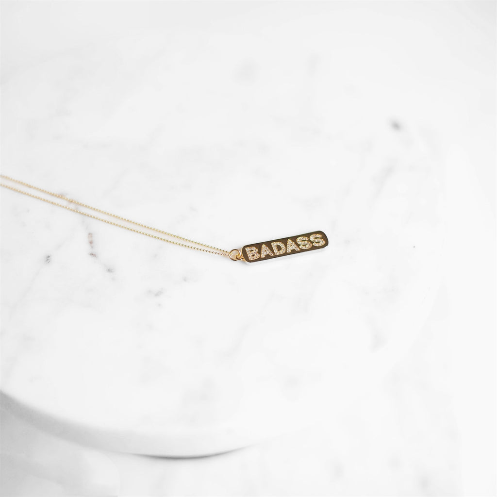 """Badass"" Bar Necklace"