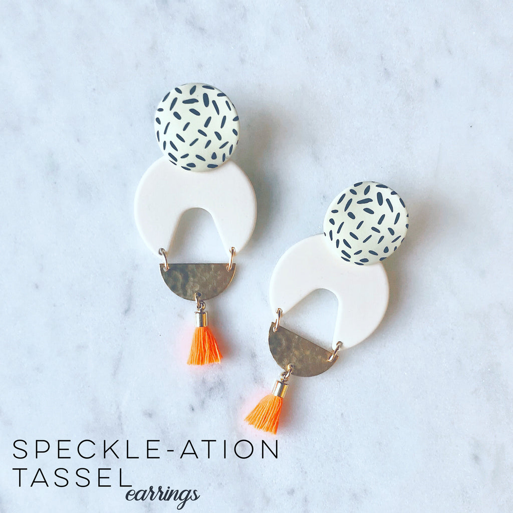 Speckle-ation Tassel Earrings