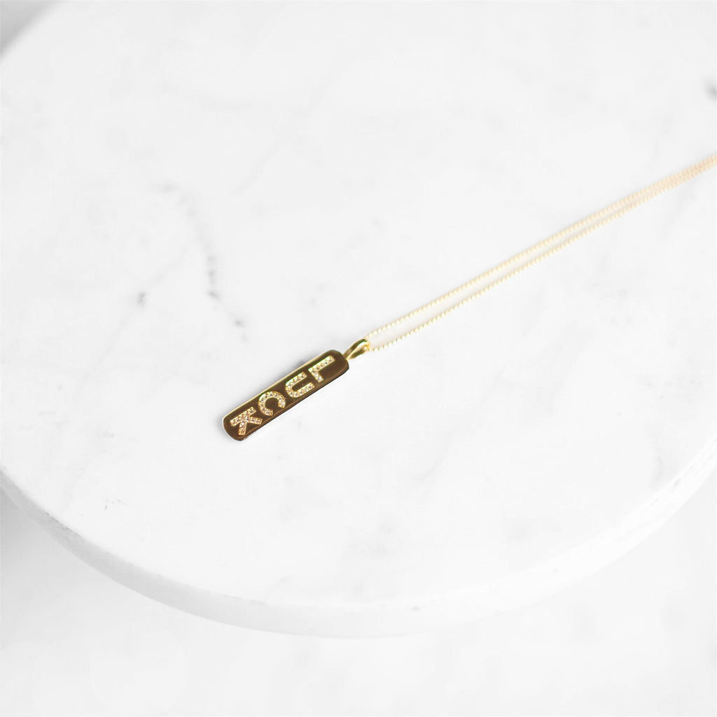 """Luck"" Bar Necklace"
