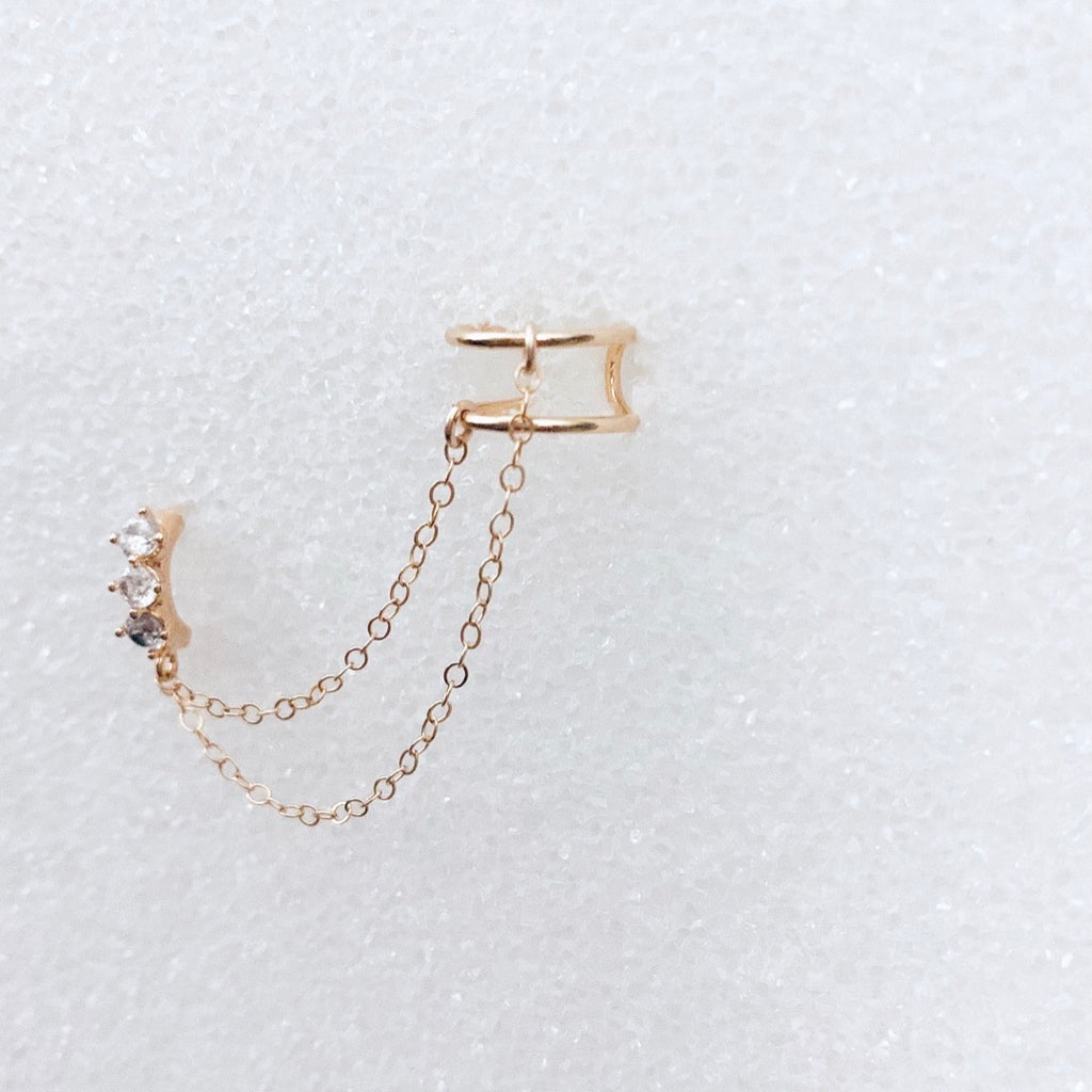 Double Take Cuff + Chain Earring
