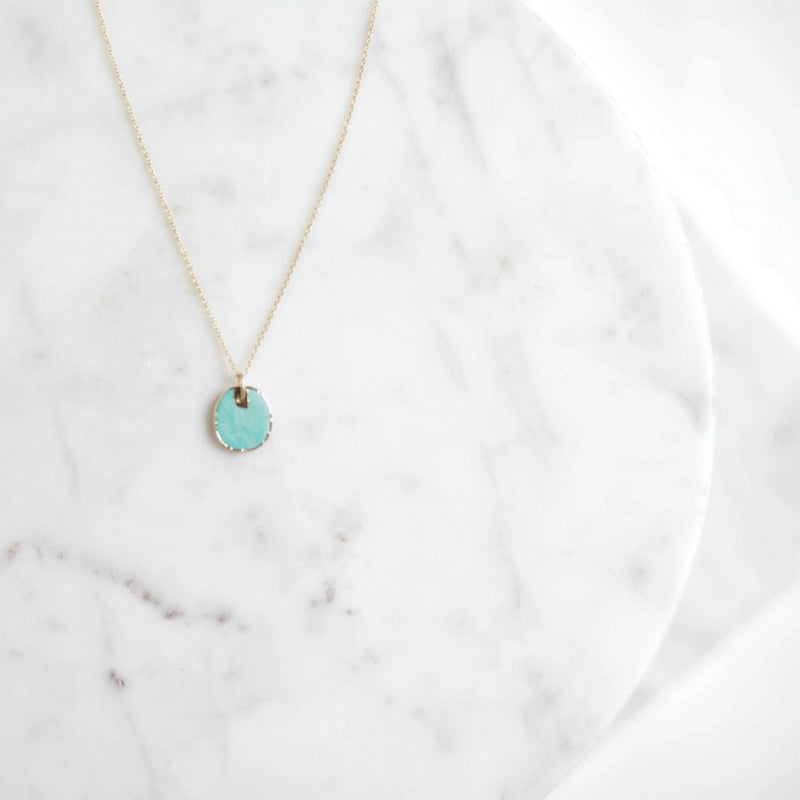 Raw Edge Turquoise Necklace