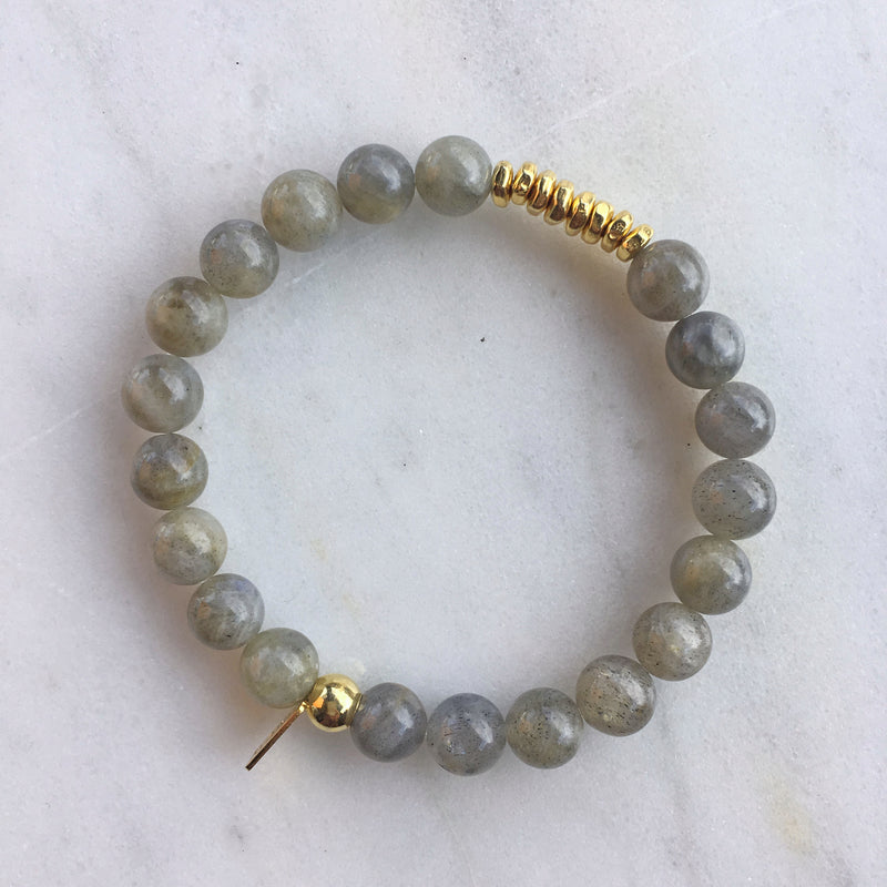 Labradorite Mala Bracelet | center |