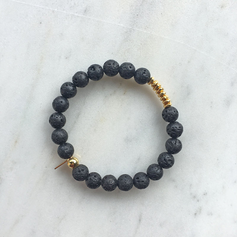 Lava Rock Mala Bracelet | center |