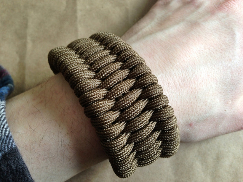 Bronze Snap Shackle Full Weave Bracelet
