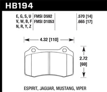 Hawk 2010 Camaro SS HPS Street Rear Brake Pads