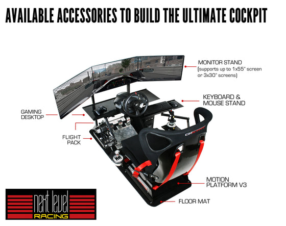 Next Level Racing GT Ultimate V2 Racing Simulator Cockpit