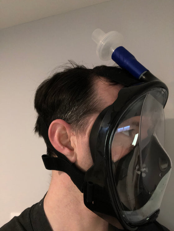 Trackwerks Full Face-mask viral-filtered respirator (COVID PPE Package)