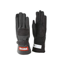 SFI-5 Two Layer Race Gloves - Black - Trackwerks