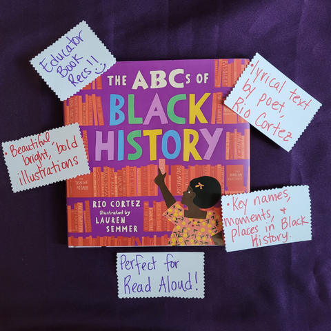 Read Aloud Recommendation, Black Picture Books, The ABCs of Black History by Rio Cortez