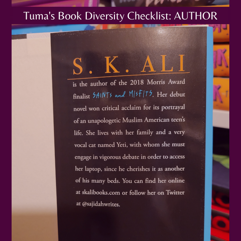 S. K. Ali Author bio in Love from A to Z