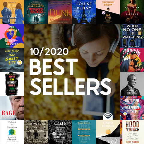 Audiobook October Bestsellers