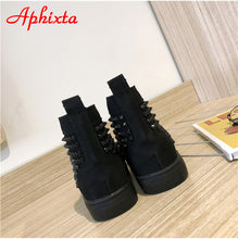 Load image into Gallery viewer, Aphixta Rivets Spikes Shoes Woman and Man High Top