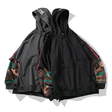 Load image into Gallery viewer, Two Pieces Camouflage Hip HopHoodie Loose Streetwear Coat