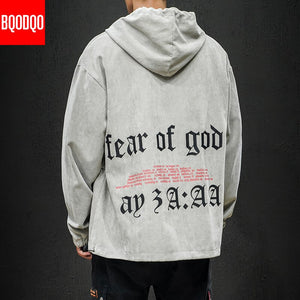 Japanese Hoodies Fear of God Harajuku Loose fit