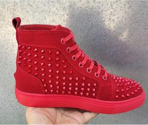 Aphixta Rivets Spikes Shoes Woman and Man High Top