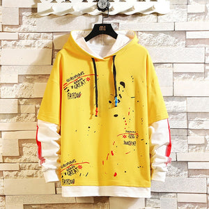 Two pieces 90´s Grunge Style Cannabis Long-sleeved Hooded Shirt