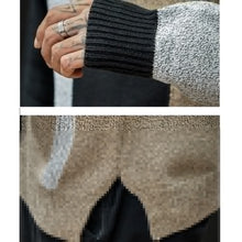 Load image into Gallery viewer, Knitted Hooded Jumper Plus Size Patchwork