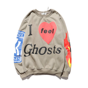 Hoodie Kanye West Feel Ghosts Sweatshirt See Ghosts