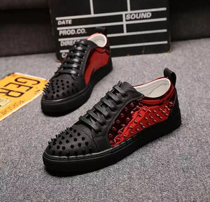 Aphixta Designer rivets Casual Shoes Spikes Low top
