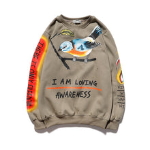 Load image into Gallery viewer, Hoodie Kanye West I am Loving Awareness  Bird Sweatshirt See Ghosts