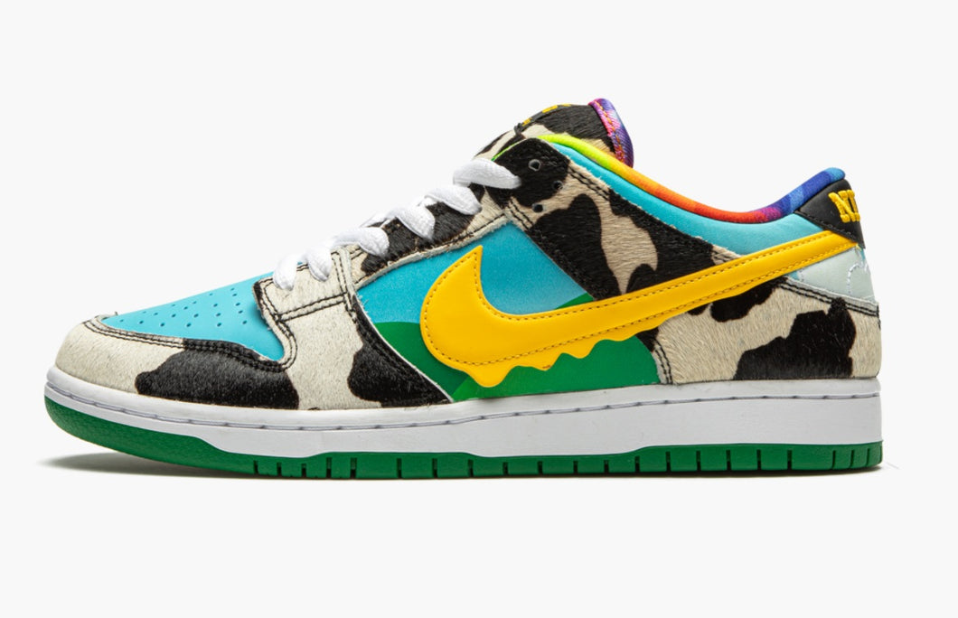 Refurbished Nike SB Dunk Low Pro Sneakers `Ben & Jerryi´s`
