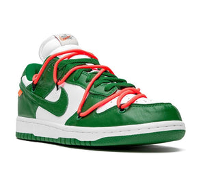 Refurbished Nike SB Dunk Low Pro Sneakers `OFF WHITE` Low Pine Green
