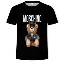 Load image into Gallery viewer, Print of Moschino Leather Teddy Bear TShirt Women