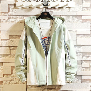 Casual Anorak Jacket Men Hooded Oversize Streetwear